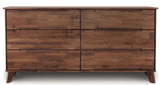 Copeland Furniture Linn LNN-60-94 Double Dresser in Natural Walnut