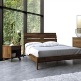 Copeland Furniture Linn LNN-02-94 Queen Bed in Natural Walnut