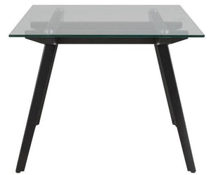 Actona Monti End Table with a Glass Top and Metal Legs