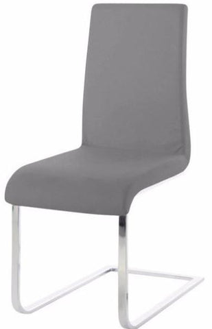 Actona Maddox Grey Chrome Dining Chair Contemporary