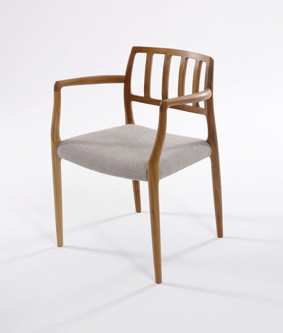 J.L. Moller 66 Teak Fabric Dining Chair