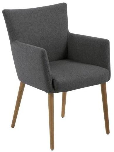Actona Nellie Occasional Arm Chair Accent Dark Grey; Oak