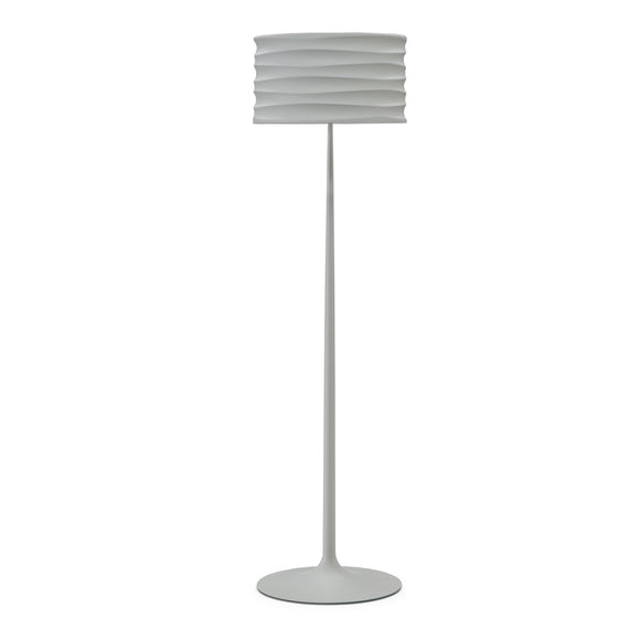 Natuzzi Italia l492PXU Onda Floor Lamp in a Pewter Grey
