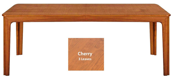 Skovby SM 27 Dining Table in Lacquered Cherry with 3 Extension Leaves