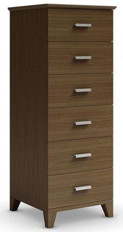 Mobican Sapporo Narrow Chest in Walnut with 6 Drawers