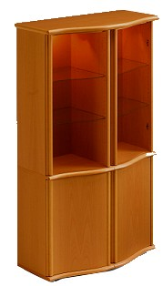 Skovby 662 Display Cabinet in Cherry Wood