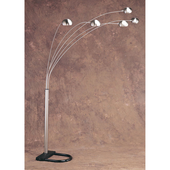 Anthony California 50 CH Iron-chrome metal five-arm arc floor lamp