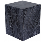 Nuevo Matisse HGMM164 End Table Black Wood Vein Polished Marble