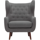 Nuevo Valtere HGSC111 Occasional Chair with a Slate Grey Fabric Seat and Walnut Stained Ash Legs