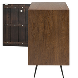 Nuevo Nexa HGSR656 Sideboard in a Seared Oak Body and Black Iron Legs