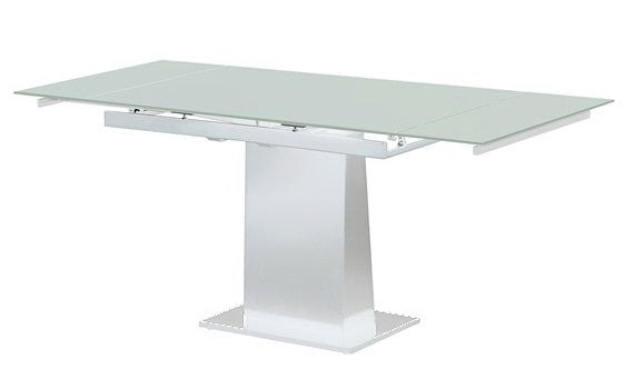 Bellini Imports Bonn Dining Table in White with Tempered Glass