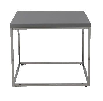 Eurostyle 09802 Teresa Coffee Table in Grey High Gloss and Metal Legs