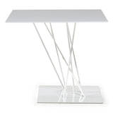 Natuzzi Italia T141FYS Shangai End Table in a White Metal