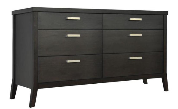 Tera Grove Phoenix Dresser in Charcoal with 6 Drawers