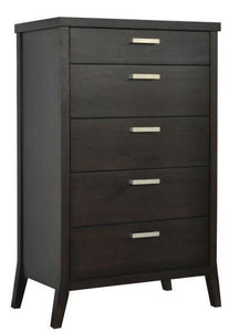 Tera Grove Phoenix High Chest in Espresso with 5 Drawers
