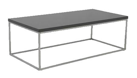 Eurostyle 09801 Teresa Coffee Table in Grey High Gloss and Metal Legs