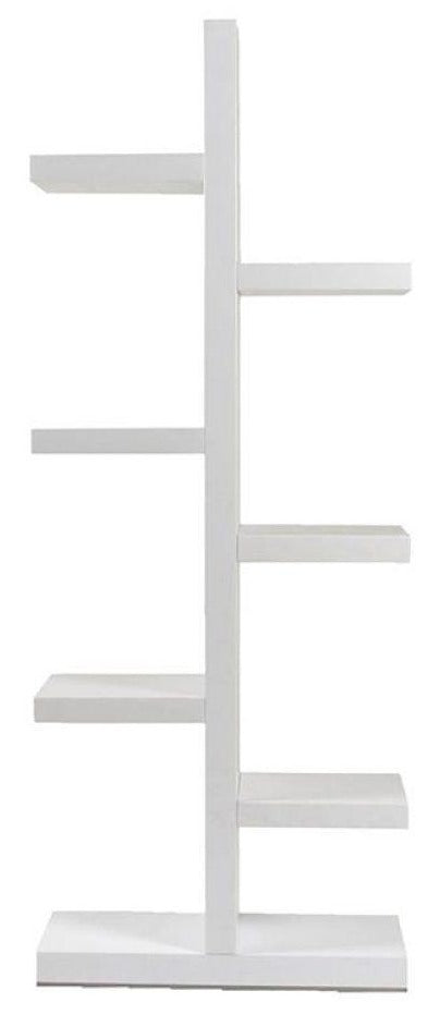Actona Brosna White High Gloss Shelving Unit Contemporary Shelf