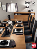 Alf Italia Trento Sideboard in Walnut with Black Glass Shelf (Pictured with Dining Room Set)