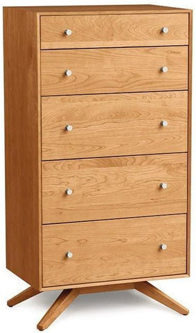 Copeland Furniture Astrid High Chest Natural Cherry Wood