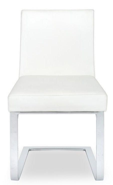 Ital Studio Autumn Dining Chair in a White Seat and Chrome Legs