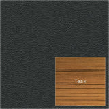 Black Leather and Teak Samples