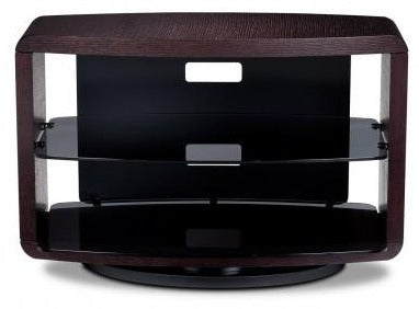 BDI Furniture Valera 9723 Espresso Smoked Glass TV Stand Media Storage Unit
