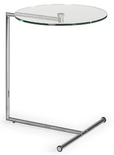 Ital Studio Sprint End Table with a Glass Top and Chrome Base