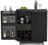 BDI Furniture Corridor Bar Charcoal Black Glass