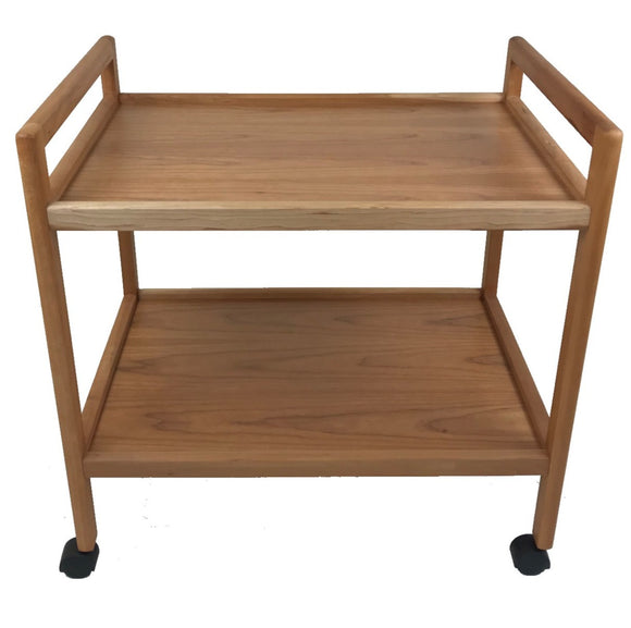 Toften 117 Bar Cart in Cherry Wood on Castors