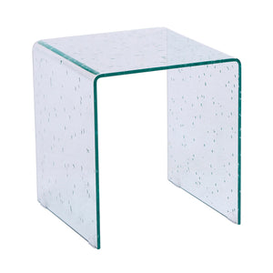 Ital Studio Bali End Table with Raindrop Glass