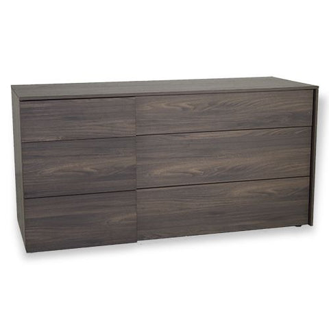 ALF Italia Ginger Double Dresser Dark Elm Finish Contemporary Bedroom