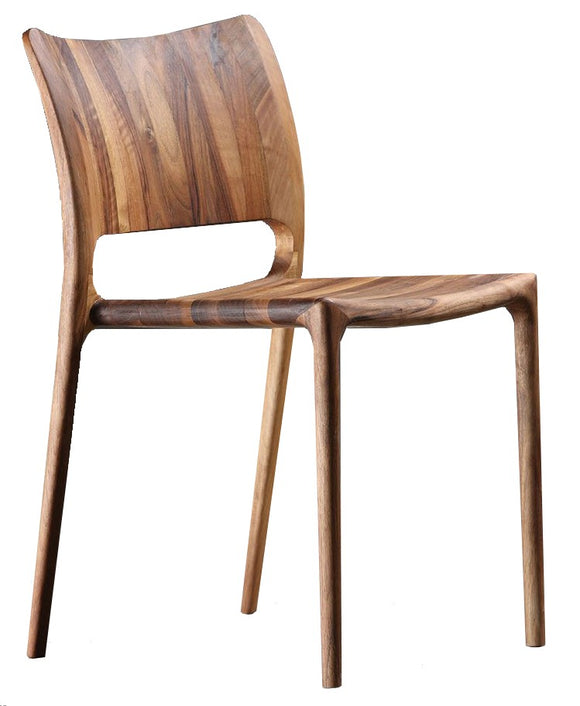 Artisan Bosnia Latus Dining Chair in Solid Walnut Wood