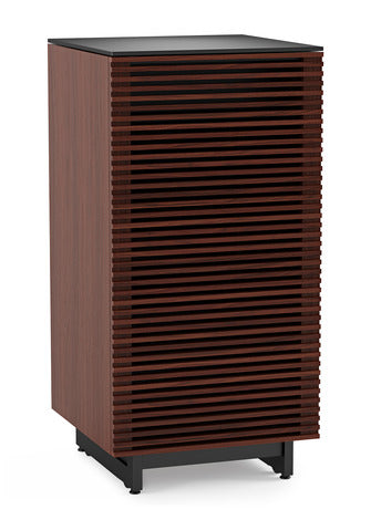 BDI Furniture Corridor 8172 Chocolate Walnut Media Audio Storage Unit Tower