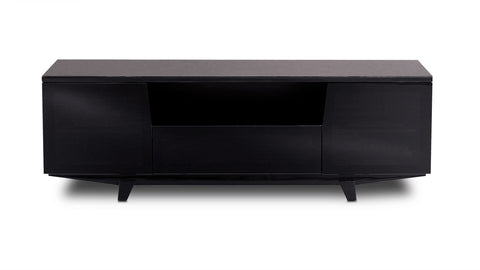 BDI Furniture Marina 8729 Black High Gloss Glass TV Stand Media Storage