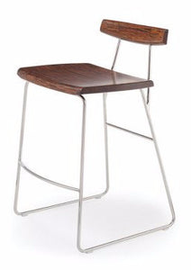 Greenington Paris Bar Stool Exotic Cognac Chrome