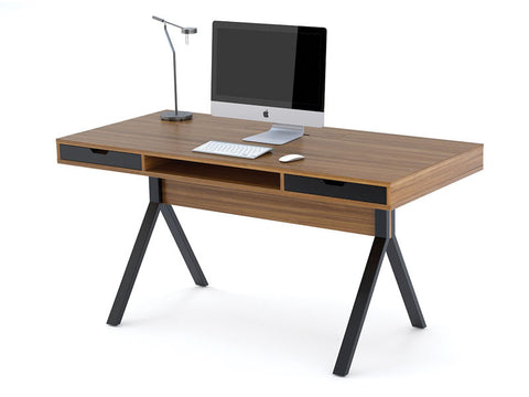 BDI Furniture Modica 6341 Black; Natural Walnut Desk