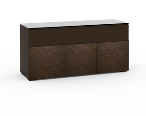 Salamander Berlin 339 Speaker Integrated Cabinet in Textured Wenge and Black Glass