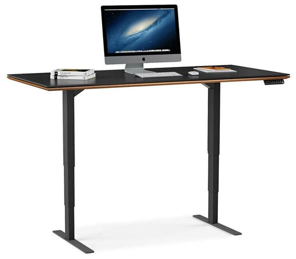 BDI Furniture Sequel Lift Desk 6051 Black Natural Walnut