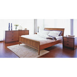 Sun Cabinet 861013 Queen Bed with Curved Headboard in Teak (Pictured with Matching Bedroom set)