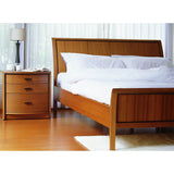 Sun Company 861013 Queen Bed with Curved Headboard in Teak