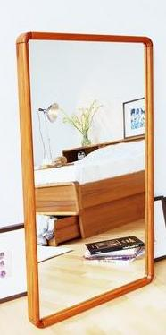 Wall Mirror With Teak Frame By Sun Cabinet