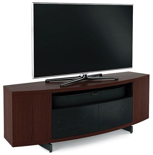 BDI Furniture Sweep 8438 TV Stand Media Storage Console Chocolate Walnut