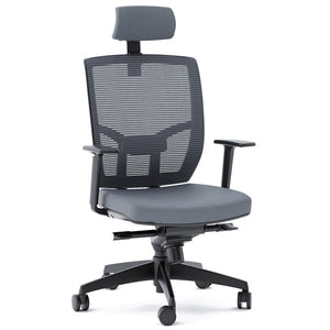 BDI Furniture TC-223 DHF Grey Mesh Office Chair Black Base Office Chair Height Adjustable Ergonomic