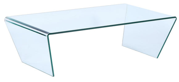Ital Studio Togo Coffee Table in Clear Glass