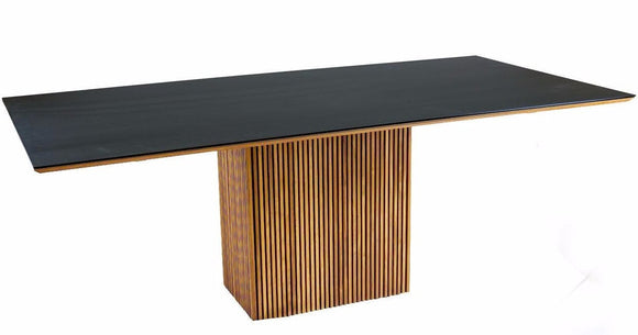 Sun Cabinet 2500 Dining Table. We carry in Teak wood with a Black Matte top.