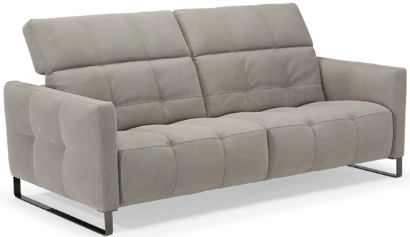 Natuzzi Italia 2957 Philo Sofa in Grigio Fabric and Metal Legs