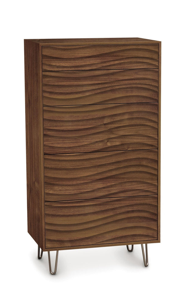 Copeland Furniture Wave High Chest Walnut Wood