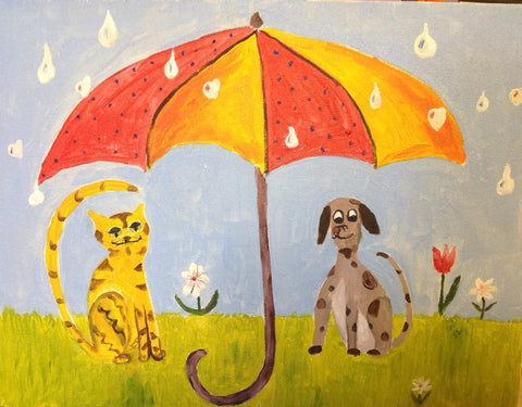 Raining Cats & Dogs big/little pARTy