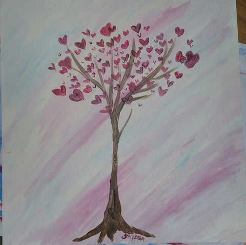 Heart Tree big/little pARTy