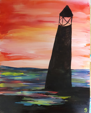 Lighthouse Silhouette pARTy